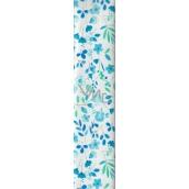 Nekupto Balící papír Modro-zelený květiny 70 x 150 cm