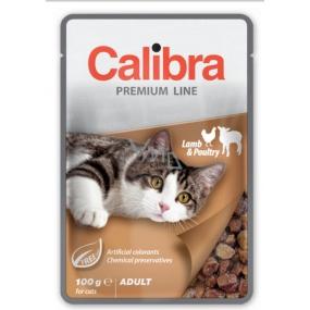 Calibra Premium Jehněčí a drůbeží v omáčce kompletní krmivo pro dospělé kočky kapsa 100 g