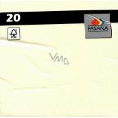 Fasana Papírové ubrousky barevné krémové 3 vrstvé 33 x 33 cm 20 kusů