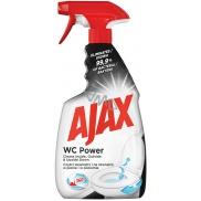 Ajax WC Power univerzální čisticí prostředek, pro úklid vnitřku i vnějšku toalety, inovativní 360 stupňová hlavice, rozprašovač 500 ml