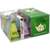 English Tea Shop Bio Zelený čaj 12 kusů pyramidek sypaného čaje, 4 příchutě, 24 g dárková sada