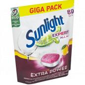 Sunlight AiO Expert Extra Lemon tablety do myčky 80 tablet