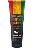 Dermacol Men Agent 3v1 Dont worry be happy sprchový gel na tělo, obličej a vlasy 250 ml