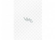 Ditipo Dárkový balicí papír 70 x 100 cm Bílý stříbrné ornamenty 2 archy