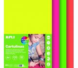 Apli Barevné papíry A4 mix barev Fluo 170 g 50 listů