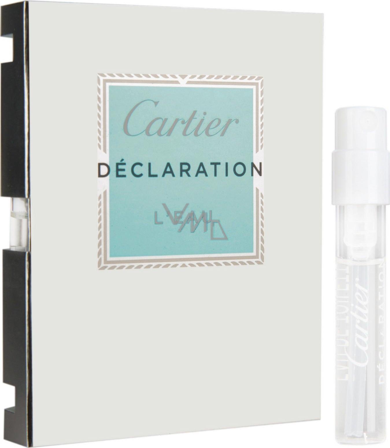 Cartier Declaration L Eau toaletní voda pro muže 1,5 ml s rozprašovačem, Vialka