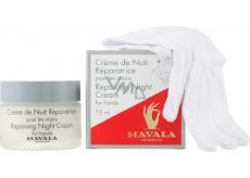 Mavala Repairing Night regenerační noční krém na ruce 75 ml + bavlněné rukavice 1 pár