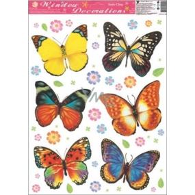 Room Decor Okenní fólie motýli barevný 42 x 30 cm