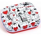 Albi Miniplechovka Kočky se srdíčky 5 x 6 x 1,4 cm