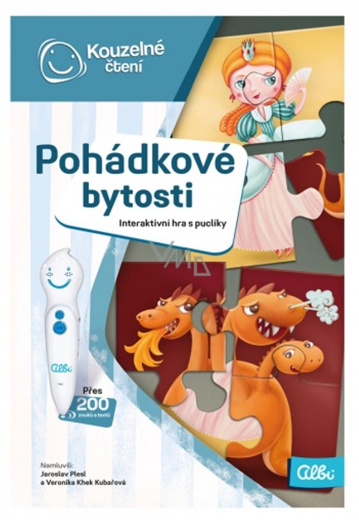 1489defb7 Albi Kouzelné čtení interaktivní mluvící hra s puclíky Pohádkové bytosti