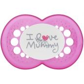 Mam Love & Affection silikonové ortodontické šidítko 6+ měsíců různé vzory a barvy 1 kus