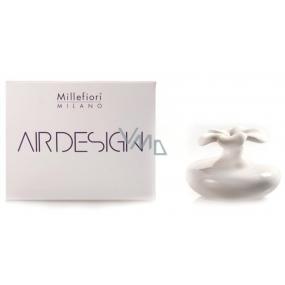 Millefiori Milano Air Design Difuzér květina nádobka pro vzlínání vůně pomocí porézní vrchní části malá bílá