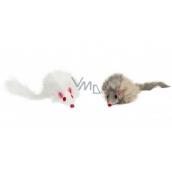 Trixie Chlupatá myš hračka pro psy 8 cm 2 kusy