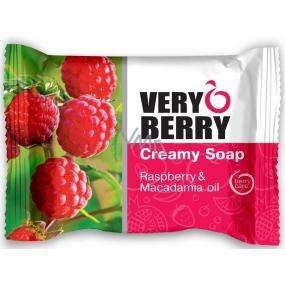 Very Berry Raspberry & Macadamia Oil - Malina a makadamiový olej toaletní mýdlo s esencemi 100 g