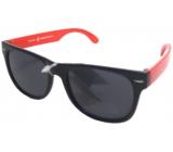 Dudes & Dudettes Sluneční brýle pro děti černé červené stranice Z403AP