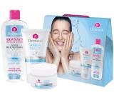 Dermacol Aqua Beauty Moisturizing Cream hydratační krém 50 ml + Aqua Beauty 3in1 Face Cleaning Gel mycí gel 150 ml + Aqua Beauty Micellar Lotion micelární voda 400 ml, kosmetická sada