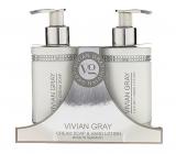 Vivian Gray Crystal White krémové mýdlo na ruce 250 ml + mléko na ruce 250 ml, kosmetická sada