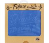 Albi Fitness ručník Brácha to dáš modrý 90 x 50 cm
