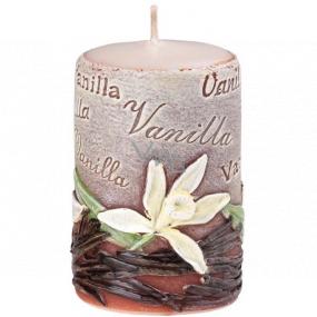 Emocio Vanilka Vanilla vonná svíčka válec 50 x 80 mm