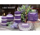 Lima Zimní třpyt Levandule vonná svíčka krychle 65 x 65 mm 1 kus