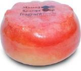 Fragrant Golden Balls Glycerinové mýdlo masážní s houbou naplněnou vůní parfému Beckham Classic v barvé jasně červené 200 g