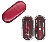 Kellermann 3 Swords luxusní manikúra 5 dílná Burgundy Fashion Materials v aktuálním módním materíálu 5831 F N