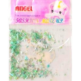 Angel Ozdoby na nehty kousky světle zelené 1 balení