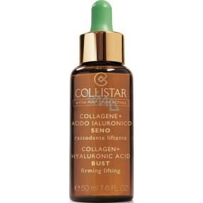 Collistar Attivi Puri Collagen+ Hyaluronic Acid Bust Firming Lifting zpevňující a vyhlazující čisté látky na prsa a dekolt 50 ml