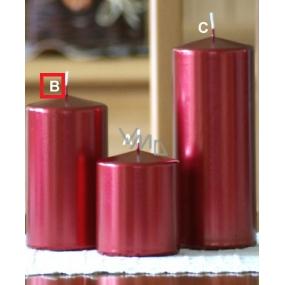 Lima Metal Serie svíčka červená válec 80 x 150 mm 1 kus