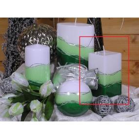 Lima Verona svíčka zelená hranol 65 x 120 mm 1 kus