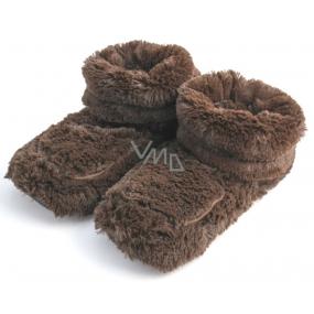 Albi Hřejivé botičky hnědé 1 pár