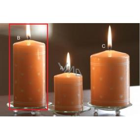 Lima Srdíčko potisk svíčka lososová válec 60 x 120 mm 1 kus