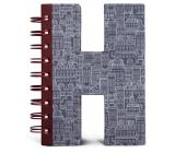 If Alphabooks Note Books Zápisník ve tvaru písmena H 91 x 14 x 124 mm