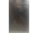 Nekupto Dárková papírová taška malá 11 x 17,5 x 8 cm Černá se vzorem 1579 LFS