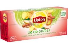 Lipton Go Go Ginger s citrusovou příchutí a zázvorem aromatizovaný čaj 20 nálevových sáčků 36 g