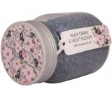 Bohemia Gifts & Cosmetics Černý rybíz a Fialové květy magneziová koupelová sůl 380 g