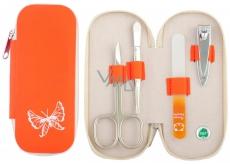 Dup Manikúra Andělk koženka 4 dílná Oranžová pro děti vzor 230402-322
