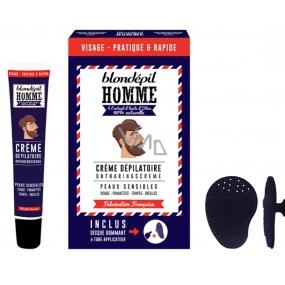 Blondépil Homme Depilační krém na obličej pro muže 20 ml