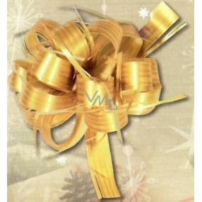 Nekupto Kokarda stuha stahovací Raphia zlatá lesk šíře 2 cm, délka 80 cm 001 21