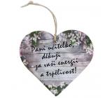 Bohemia Gifts Dřevěné dekorační srdce s potiskem - Paní učitelko, děkuji 12 cm
