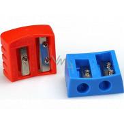 Y-Plus Buddy dvojité ořezávátko prodloužený hrot 37 x 32 x 15 mm 1 kus červené/modré