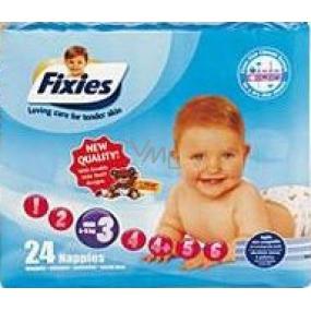 Fixies Active Life 3 Midi 4 - 9 kg plenkové kalhotky 24 kusů