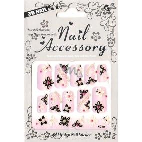 Nail Accessory 3D nálepky na nehty č. 4 1 aršík