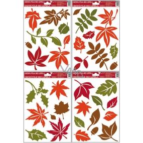 Room Decor Okenní fólie bez lepidla barevné podzimní listy 30 x 20 cm 1 arch