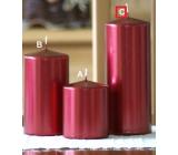 Lima Metal Serie svíčka červená válec 80 x 200 mm 1 kus