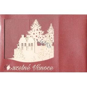 Nekupto Přání k Vánocům prostorové Vánoční 150 x 150 mm, 3308 Y