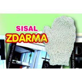 DÁREK Sisal rukavice č.4