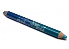 Princessa Davis Eye Double Colour oční stíny v tužce + ořezávátko 028 modrá a zelenomodrá 6 g