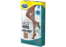 Scholl Light Legs Kompresní punčochové kalhoty M hnědé 20 den pomáhají zabraňovat pocitu únavy nohou a snižují pocit těžkých nohou