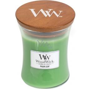 WoodWick Palm leaf - Palmový list vonná svíčka s dřevěným knotem a víčkem sklo střední 275 g